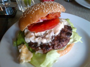 Blue cheese burger from the Cambridge. Sadness