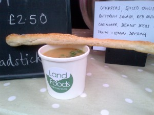 Soup and bread-stick