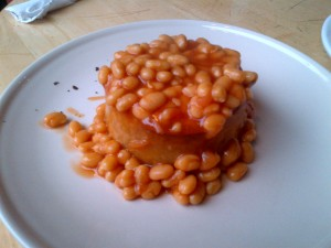 Pie and beans