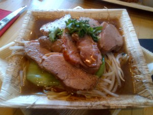 Duck and noodles soup