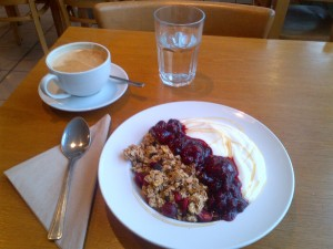 Granola and coffee
