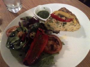 Frittata and salad