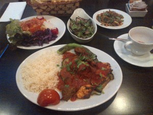 Kebab and side dishes
