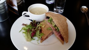 Sandwich and soup