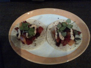 Beetroot tacos
