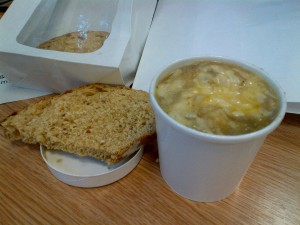 Stovies and bread