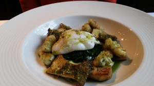 Gnocchi and duck egg