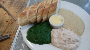 Pate platter and bread