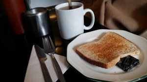 Toast and tea