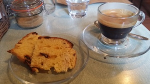 Coffee and panettone