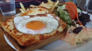 Croque madame at the Water of Leith Cafe Bistro