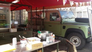Army kitchen at Wild Rover
