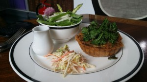 Tartlet and salad
