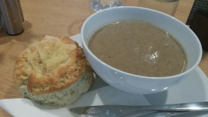 Soup and scone