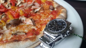 Pizza and Rolex at Caffe e Cucina