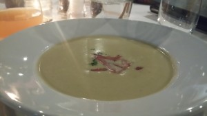 Jerusalem artichoke soup from The Stockbridge Restaurant