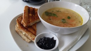 Toastie and soup