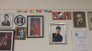 The Arthur of the Week board