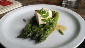 Asparagus and Sariann's cheese