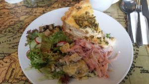 Quiche and salads