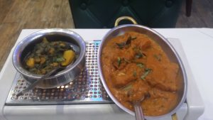 Curry and saag